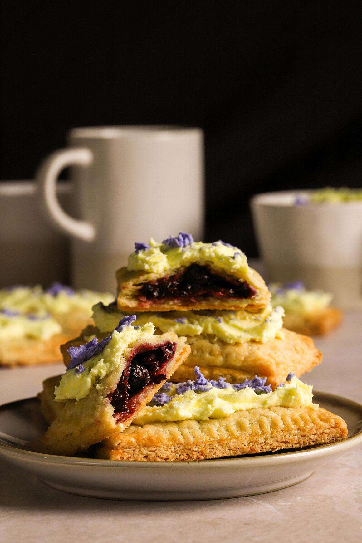 blueberry pop tart with lemon blueberry frosting