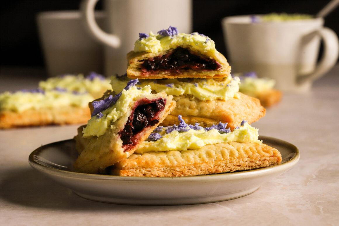 blueberry pop tarts on plate