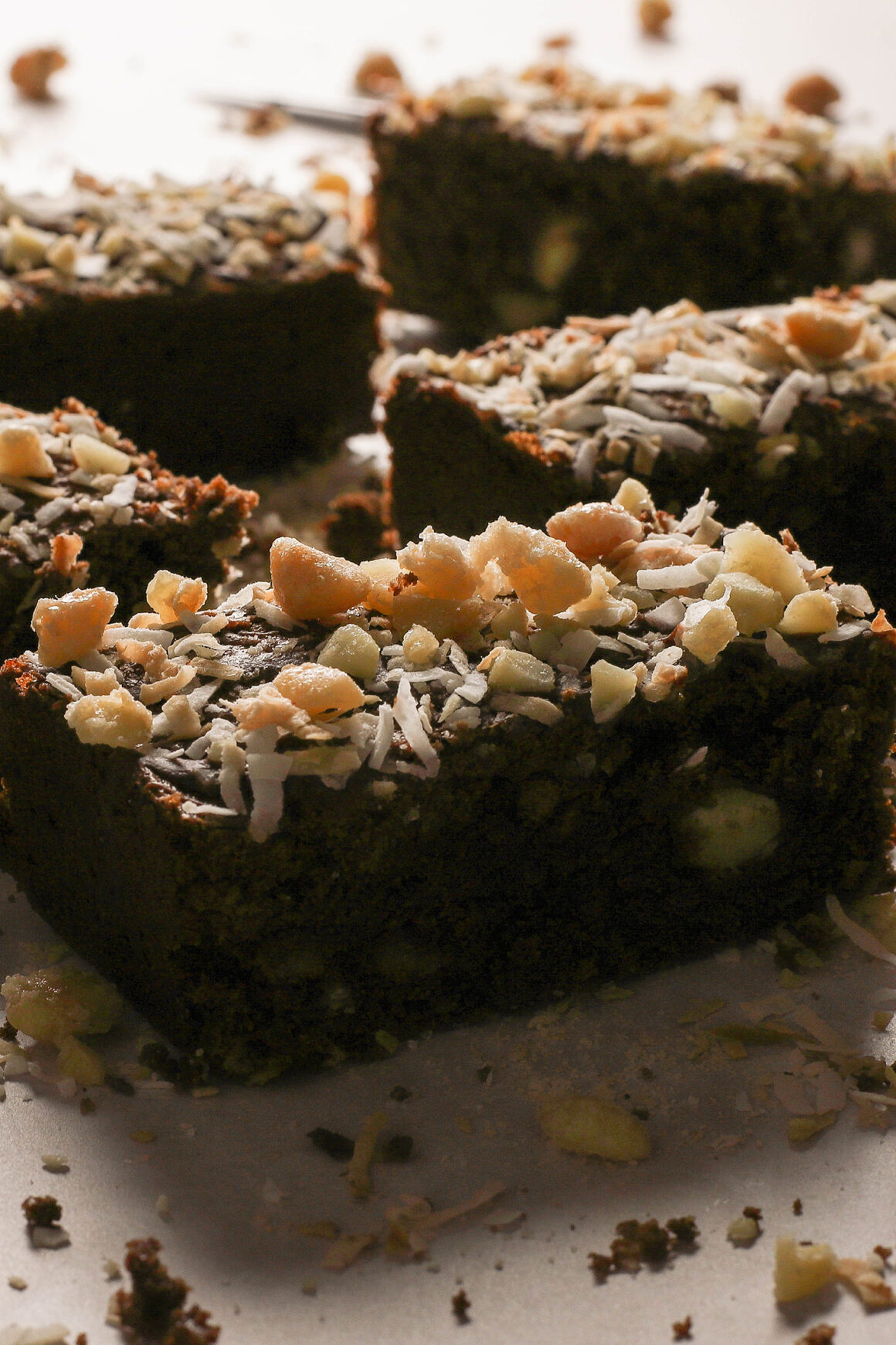 brownies with nuts and coconut