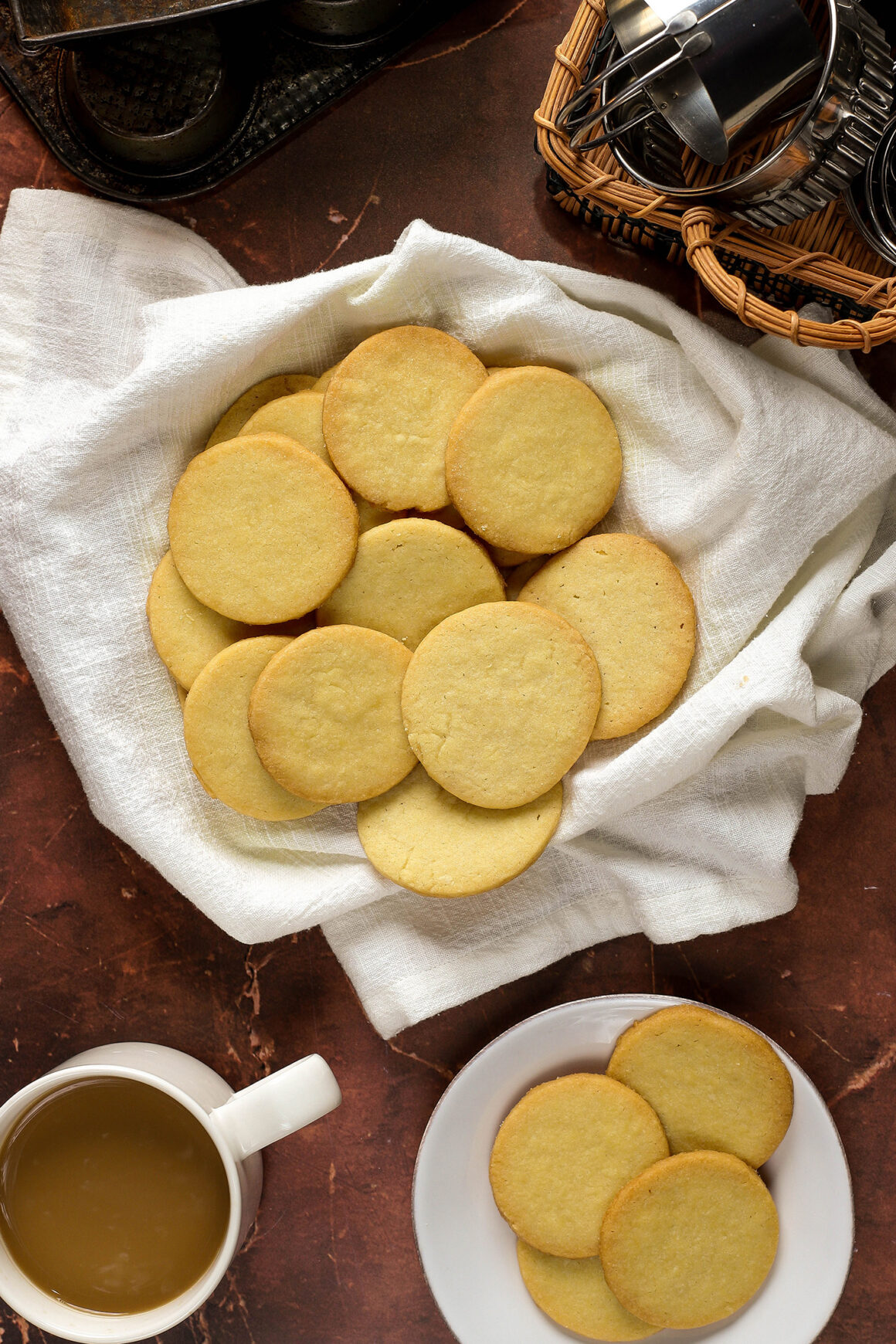 freshly baked butter cookies