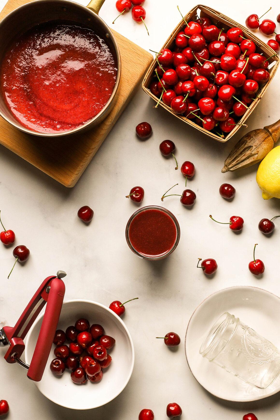 fresh cherry puree