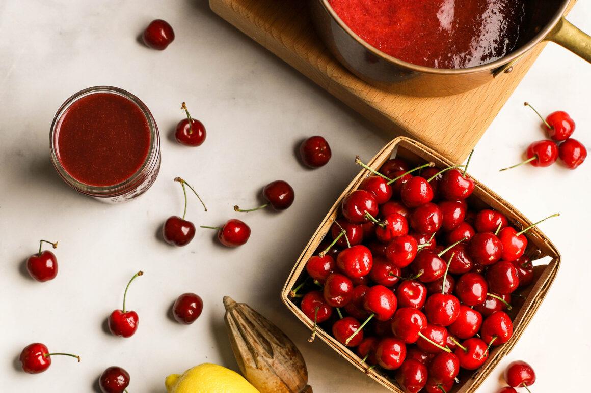 fresh bing cherry puree