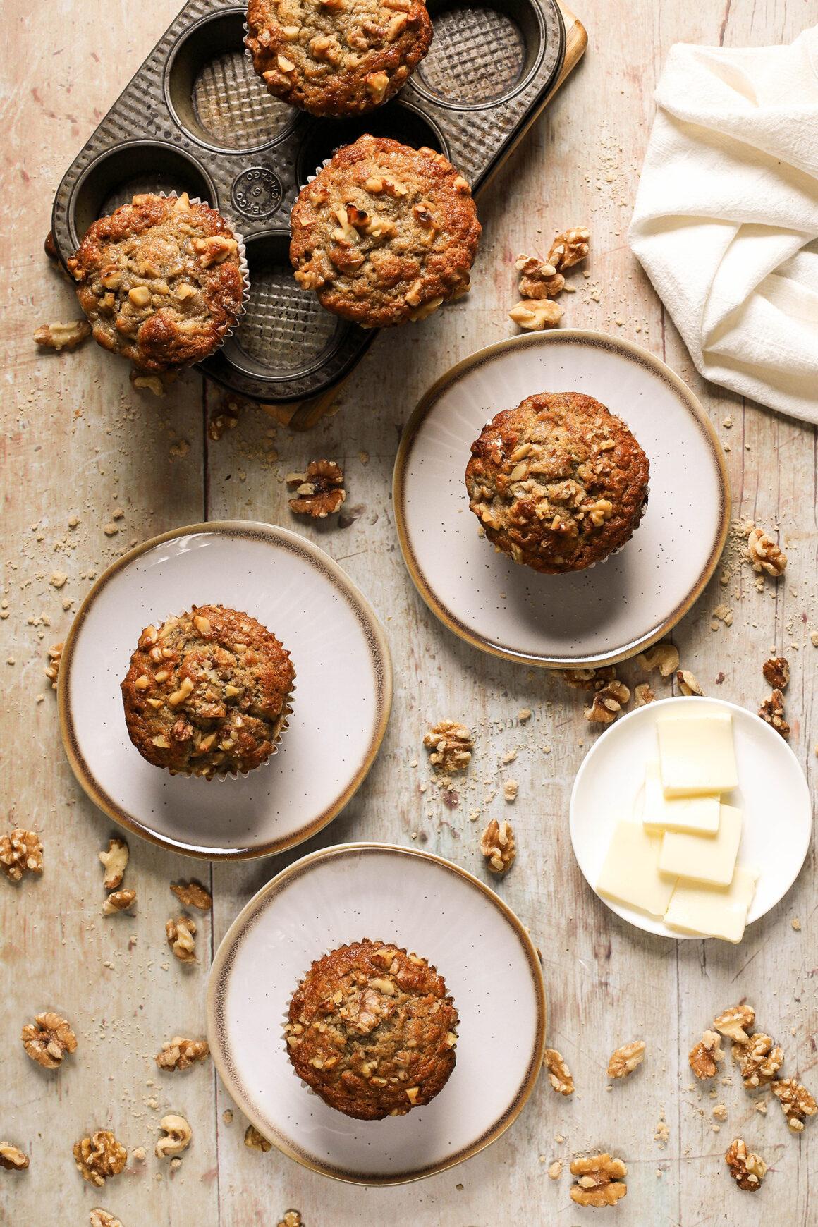 banana bread muffin photography