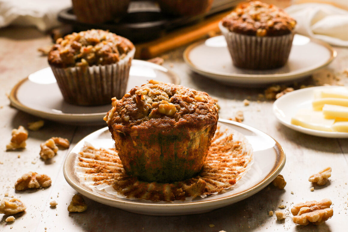 banana bread muffin with butter